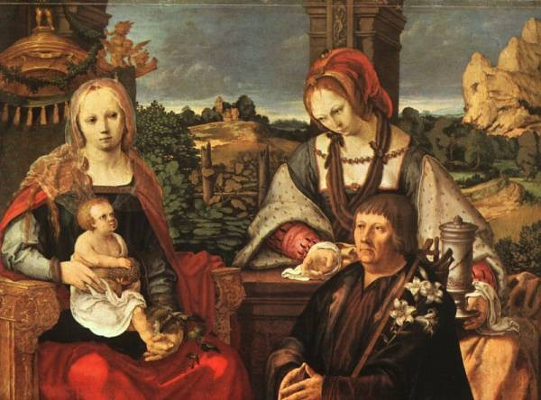 Madonna and Child with Mary Magdalene and a Donor WGA